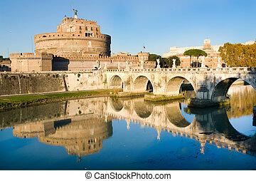 Sant\'Angello castle in Rome - The fortress of Sant\'Angello...