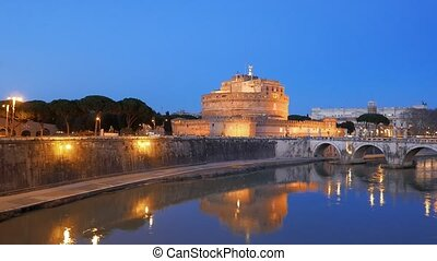 Sant'Angelo, Evening, Rome. Italy