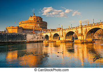 Sant'Angelo fortress, Rome - Saint Angel Castle and bridge...