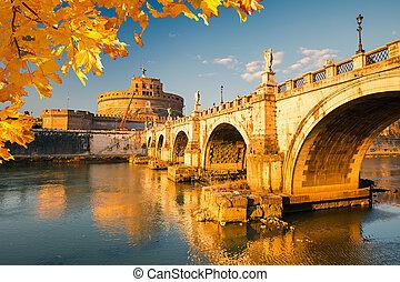 Sant'Angelo fortress, Rome - Saint Angel Castle and bridge...