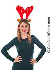 Santa's beautiful reindeer