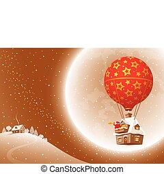 Santa's Christmas flight