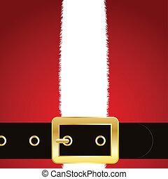 Santas coat and belt - Close up of the coat and belt of...