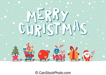 Santas Express illustration - Vector Illustration Of Santa...