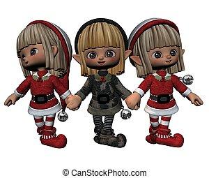 santa's, karácsony, törpék
