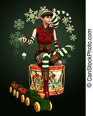 Santas Little Helper Katie, 3d CG - 3d computer graphics of...