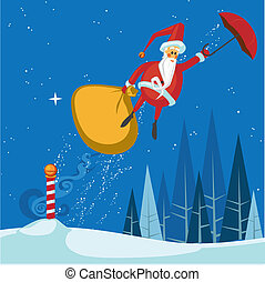 Santa\'s Magic Umbrella Ride