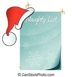 Santa's Naughty List illustration