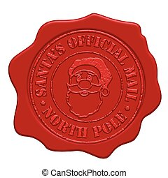 Santa's official mail red wax seal