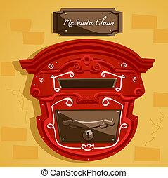 Santa's postbox , illustration