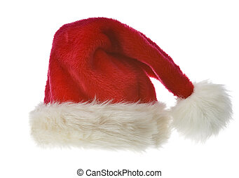 Santa's red hat isolated