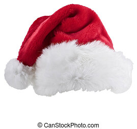 Santa's red hat isolated on white background