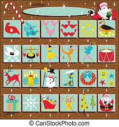 Santa's Retro Advent Calendar