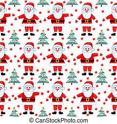 Santas seamless pattern.