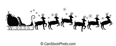 santas sled with reindeer - sled with reindeer and no Santa...