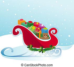Santa\\\'s Sleigh - Santa\\\'s sleigh packed to the brim...