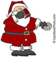 Santa's Treats - This illustration depicts Santa Claus ...