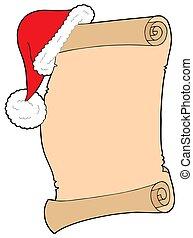 Santas wish list - isolated illustration.