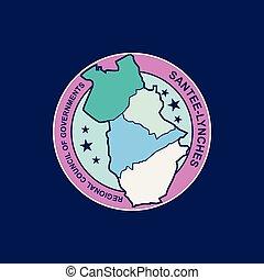 santee lynches map logo vector template