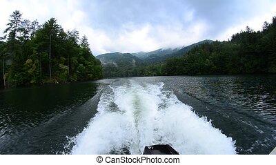 santeetlah, enfumé, lac, montagnes
