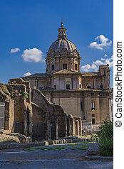 santi, e, chiesa, roma, luca, italia, martina, dei