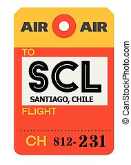 Santiago airport luggage tag - Santiago realistically...