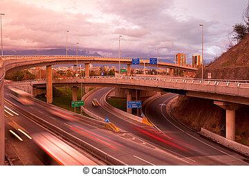 santiago, autopistas