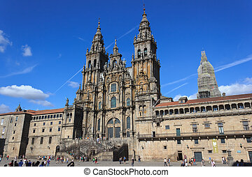 Santiago Cathedral - A view of the Cathedral of Santiago de...