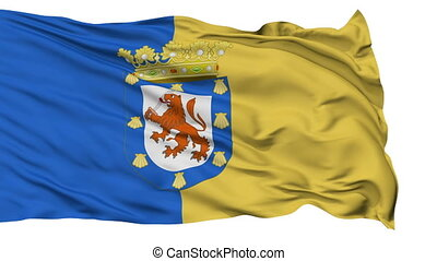 Santiago City Isolated Waving Flag