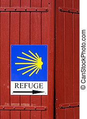 santiago, de, camino, refuge, signe