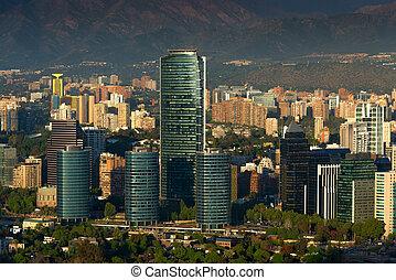 Santiago de Chile - View of Santiago de Chile with Titanium...