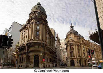 Santiago de Chile stock exchange building and financial...