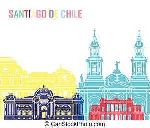 Santiago de Chile V2 skyline pop