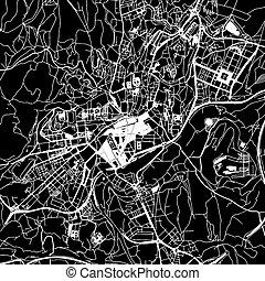 Santiago de Compostela Vector Map