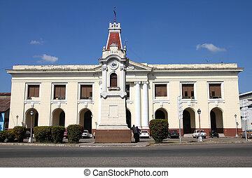 Santiago de Cuba - famous Alameda street clock