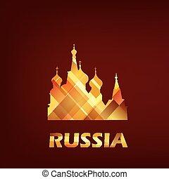santo, basilico, cattedrale, simbolo, russia, mosca