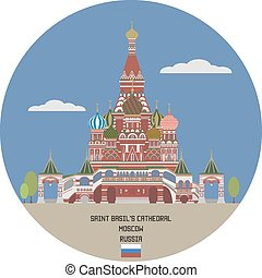 santo, basil's, cathedral., mosca, russia