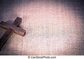 santo, de madera, cristiano, cruz
