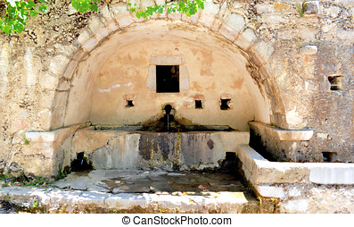 santo, fuente, de, el, agua