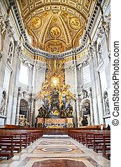 santo, interior, peter, vaticano, catedral