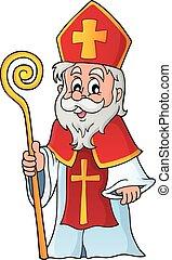 santo, nicolas, tema, immagine