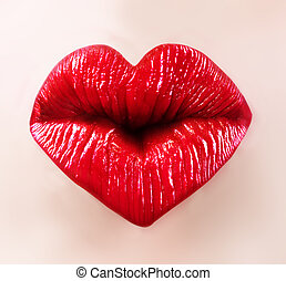 santo, valentine, labios