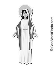 santo, virgen maria, icono