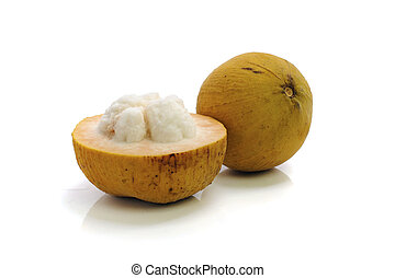 santol isolated on white background