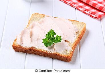 santoreggia, spalmare, bread