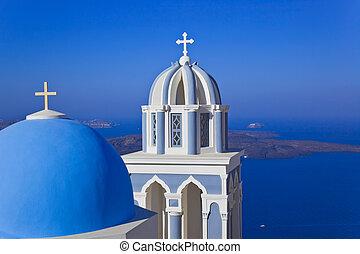 santorini, église, -, grèce