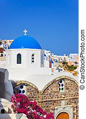santorini, église, (oia), grèce