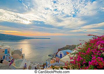 santorini, ギリシャ