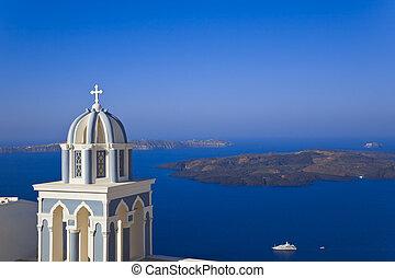 santorini, 教会, -, ギリシャ
