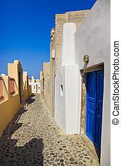 santorini, 通り, -, (oia), ギリシャ
